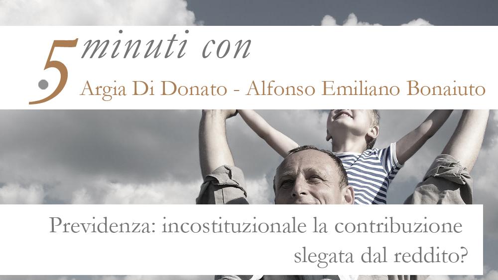 5 minuti con…Argia Di Donato e Emiliano Alfonso Bonaiuto