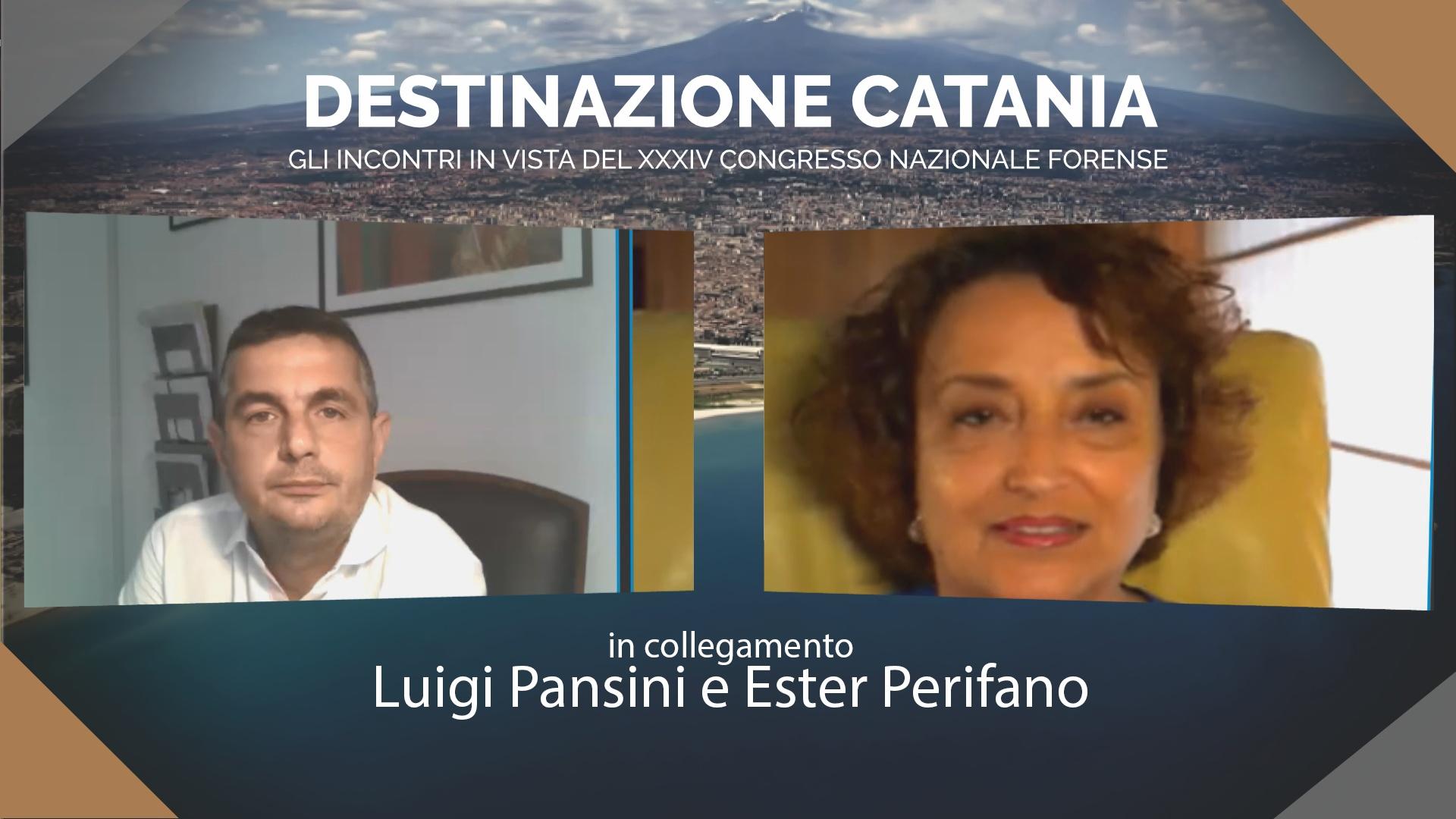 Destinazione Catania. Incontro in vista del XXXIV Congresso Nazionale Forense. Ester Perifano e Luigi Pansini