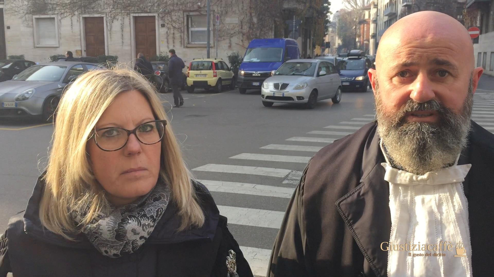 Protesta degli avvocati a Milano davanti al Tribunale contro lo stop alla prescrizione