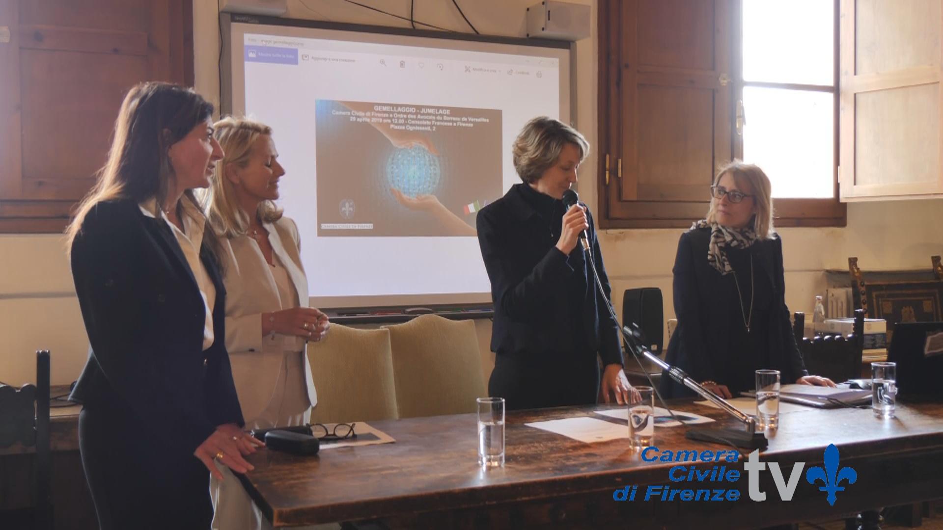 Convenzione di Gemellaggio tra la Camera Civile di Firenze e l'Ordre des Avocats du Barreau de Versailles