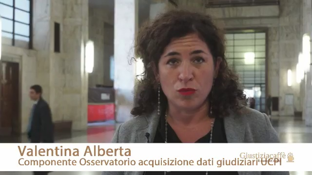 VALENTINA ALBERTA – COMPONENTE OSSERVATORIO ACQUISIZIONE DATI GIUDIZIARI UCPI