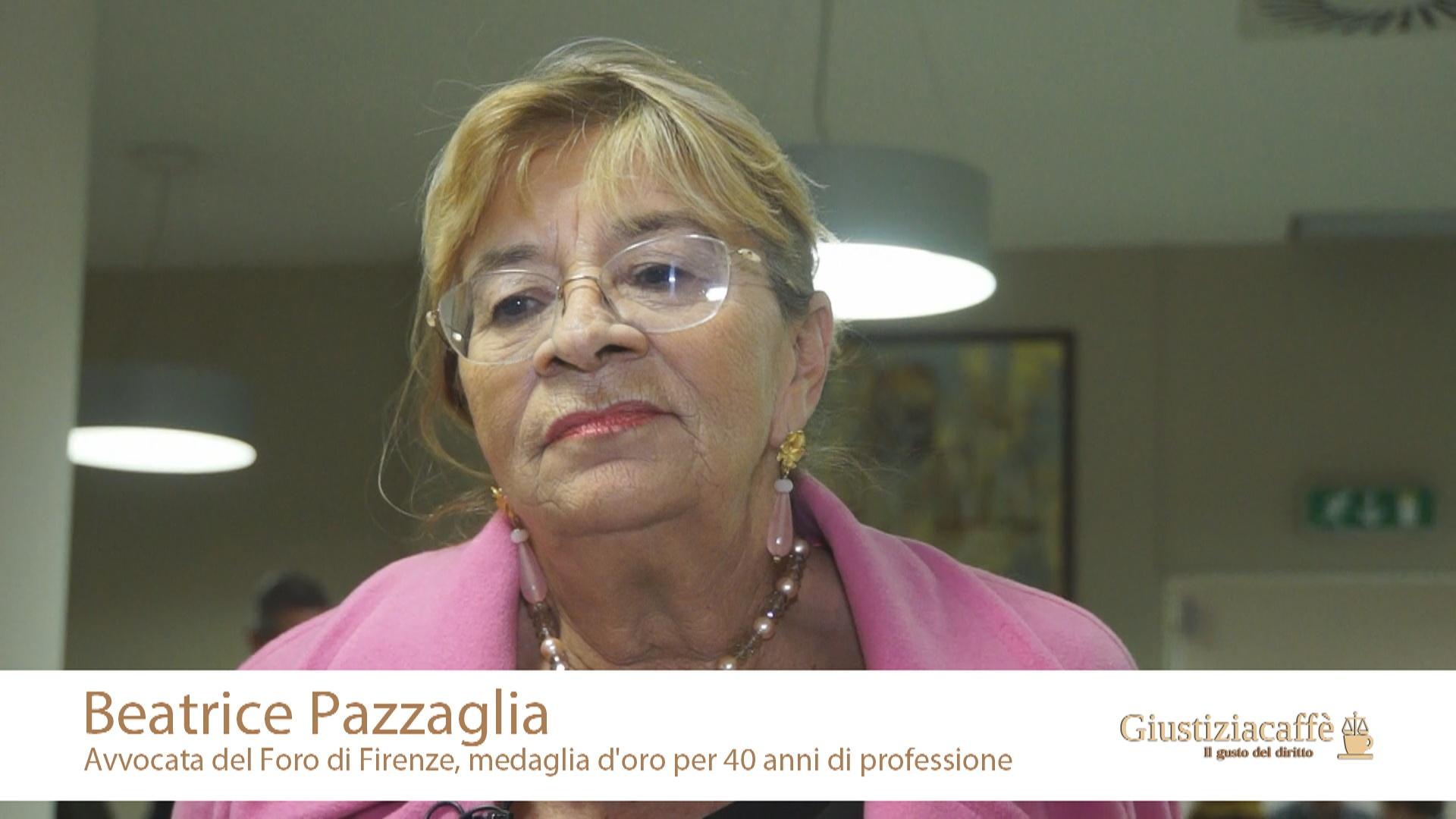 Beatrice Pazzaglia, avvocato del Foro di Firenze, medaglia d'oro per 40 anni di professione
