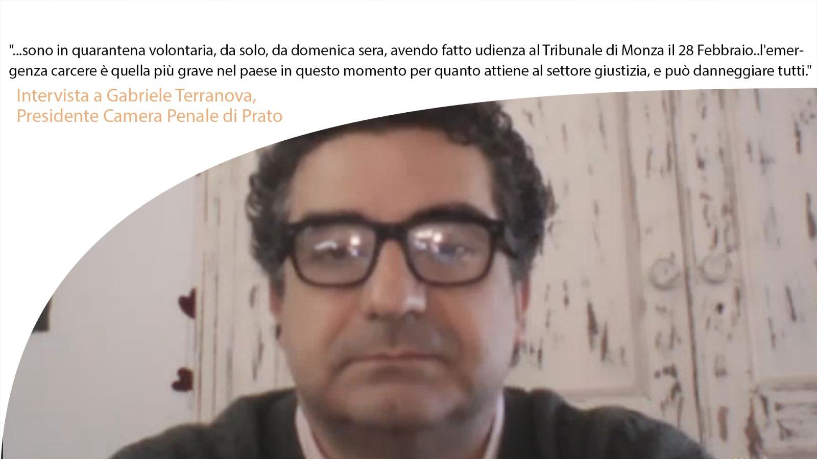 """""""Gabriele Terranova:…l'emergenza carcere è quella più grave nel paese in questo momento."""""""