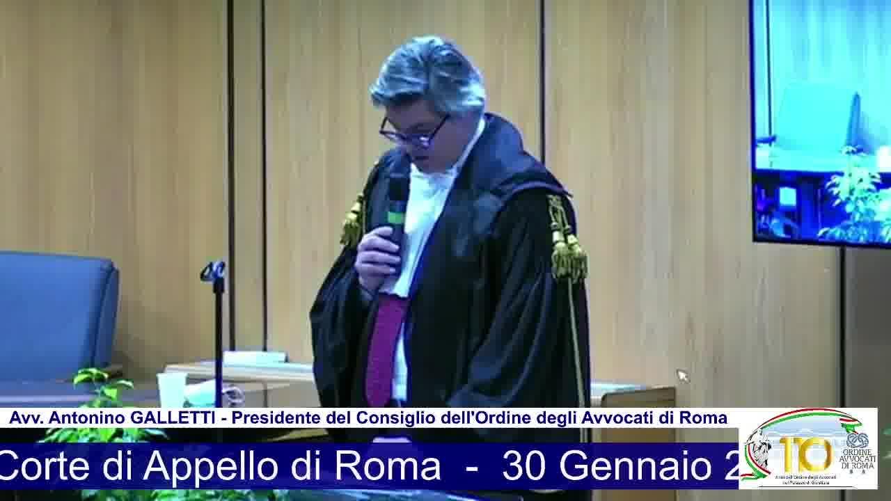 Inaugurazione Anno Giudiziario Corte Appello Roma
