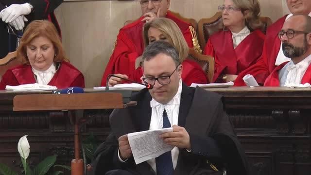 Il Presidente dell'Ordine Avvocati Catanzaro, Antonello Talerico, all'Inaugurazione dell'Anno Giudiziario