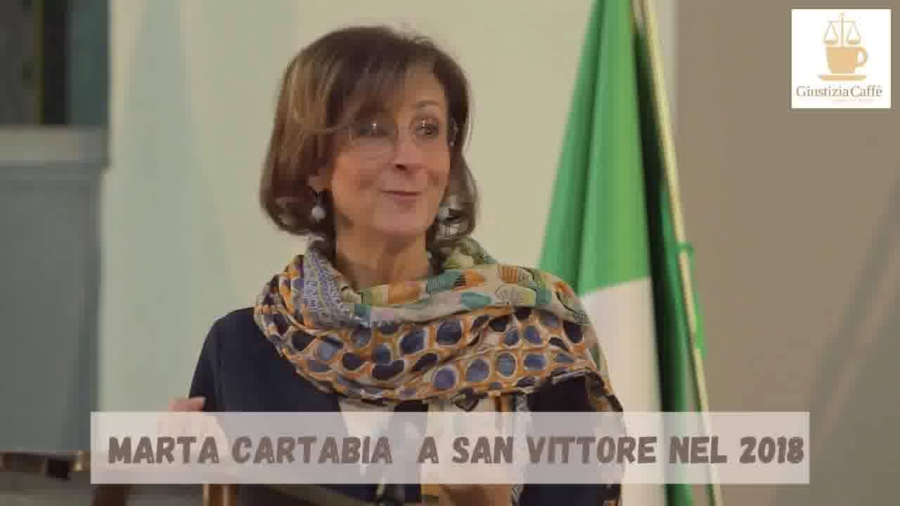 Marta Cartabia, intervento a San Vittore (video)