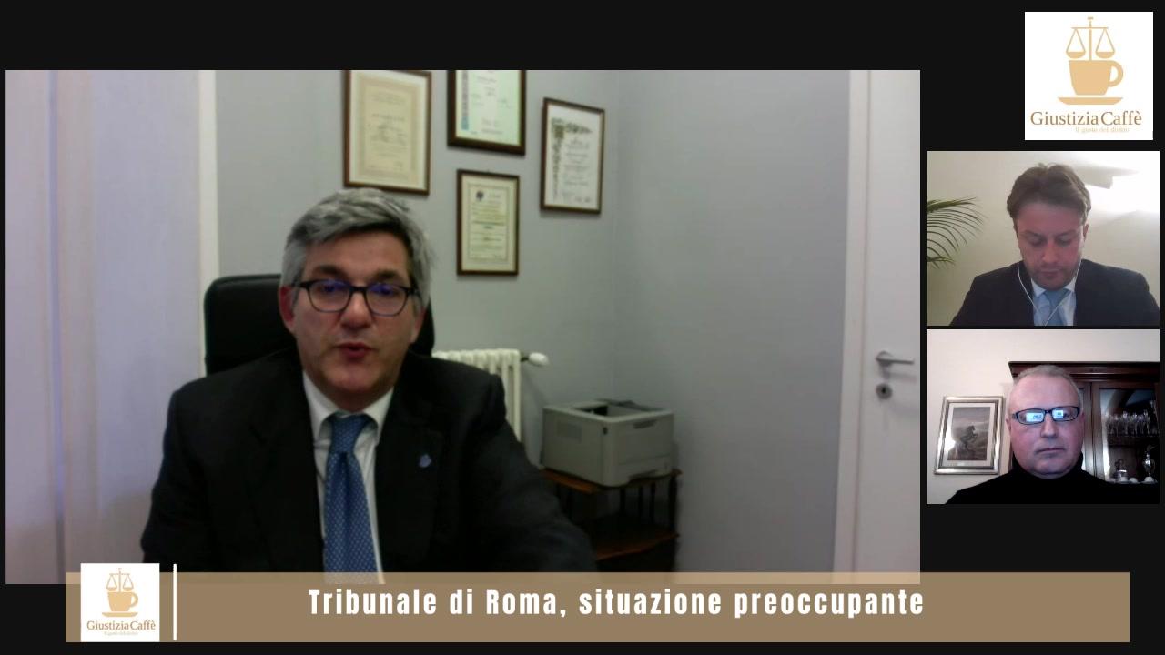 Tribunale di Roma, situazione preoccupante